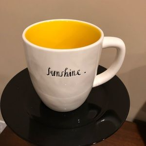 NEW Rae Dunn Script SUNSHINE mug - Dark yellow